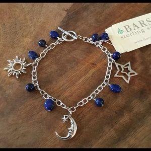 "Barse ""Sun, Moon & Stars"" Bracelet- Lapis Sterling"